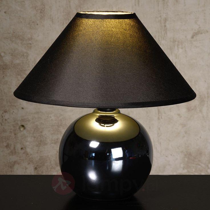 Czarna lampa stołowa FARO z kulistą podstawą 6054943