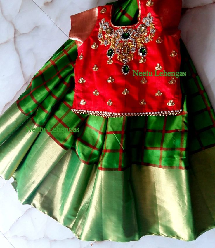 Pamper ur little ones with these hand picked Pure silk lehengas in custamised colors blouse can be custamised as anyones choice in hand embroidery r pattu zari .... price starts frm 5000/- for further details get in touch with our team.... To order a similar dress for ur baby doll plz mail ur queries at neetulehangas@gmail.com.. whats app @ 8184889999.. with attached dress pic n ur baby age.. Thanq  kanchipattu  pattulanga  kanchipuram  Puresilk 18 June 2016