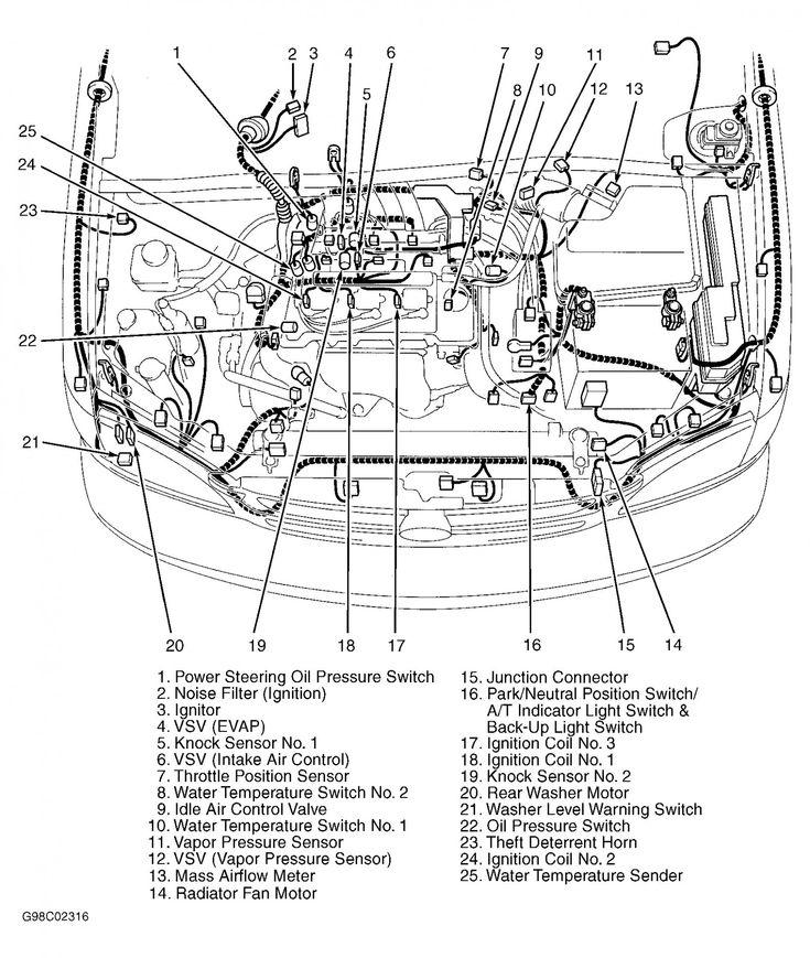 5 toyota corolla engine parts diagram   toyota tundra, toyota camry, toyota  pinterest