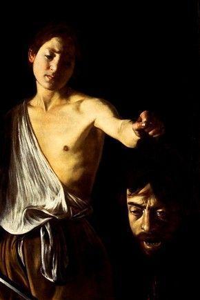 """""""Autorretrato de Caravaggio"""". No dejo de fijarme en la maestría con la que este pintor dominaba las luces y las sombras."""