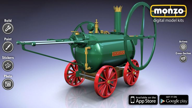 Trevithick Engine: Enjoy this noteworthy model, assemble it and add to your collection. Do you own any model from Age of Science section in #Monzo? App Store: http://bit.ly/MonzoiOS Google Play: http://bit.ly/MonzoAndroid