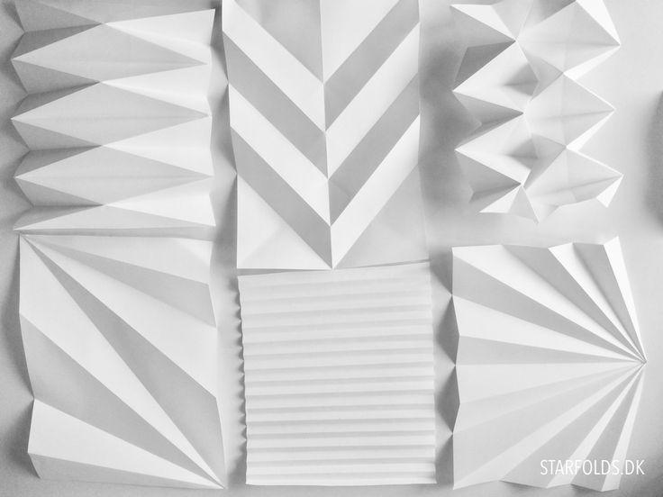 Erstellen Sie einzigartige Papierhalterungen und -modelle mit verschiedenen Falztechniken. Es gibt zwei wichtige Falttechniken innerhalb des Origamis, wie hier gezeigt.