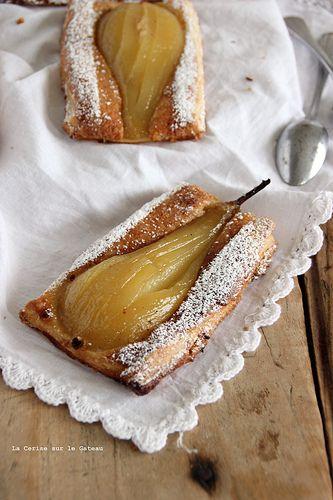 poires023 Tarte fine feuilletée aux poires & à la crème frangipane