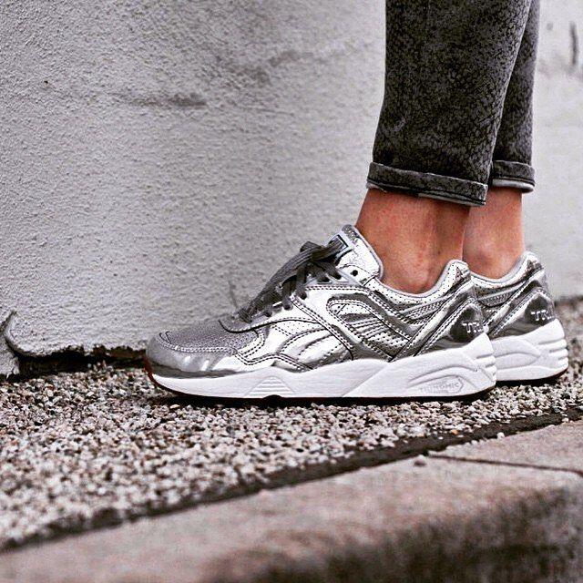Chaussures tendances : les baskets métallisées