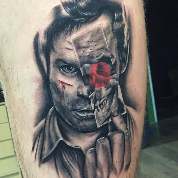 Amazing dexter tattoo by welhoink dexter pinterest for Are tattoos bad for your blood