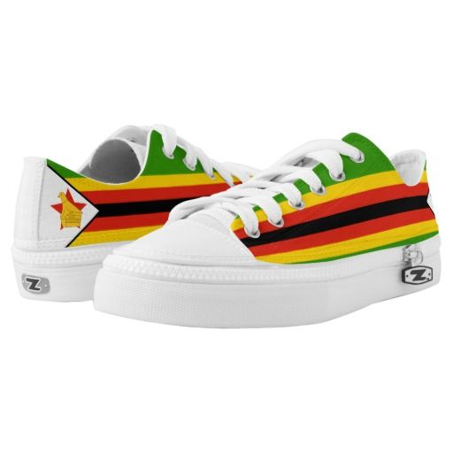 Zimbabwe Flag Low-Top Sneakers Zimbabwean Shoes African Pride
