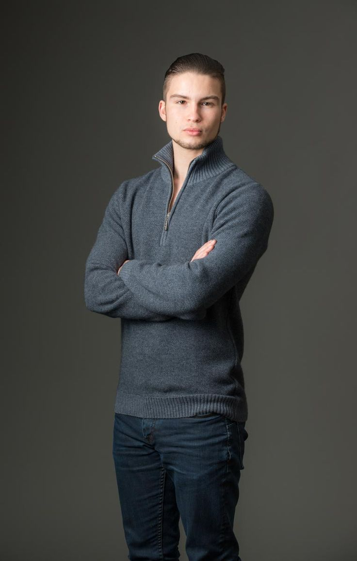 This is a great every-day mans jumper with a half zip so you can regulate your body temperature and vent a bit of extra heat away. Available is three colours.The texture of the wool over the whole garment is an interesting and subtle texture that is hard to explain but you will love it. If you are looking for a jumper that is a little bit different but still safe then this is it.