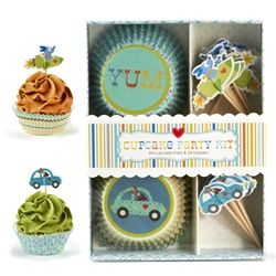 Happi Cupcake Kit..so cute for a little boys birthday party!