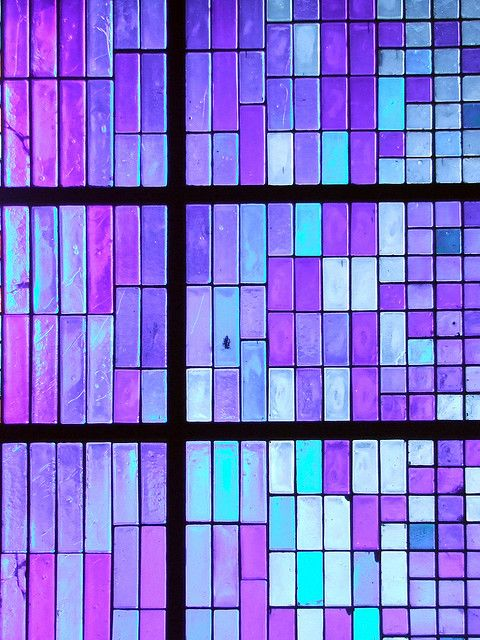 Purple tile glass