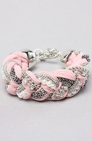 DIY braided bracelet. CUTE.
