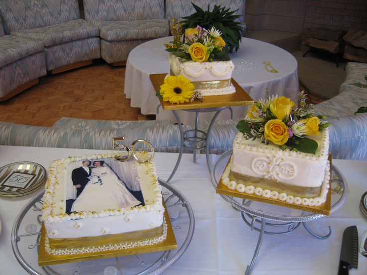 Cake Ideas For Parents Anniversary : 133 best images about 50th Wedding Anniversary Ideas on ...