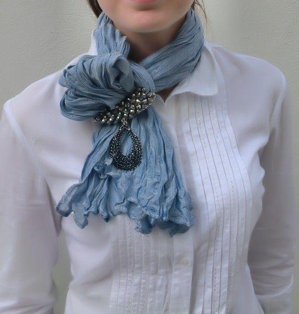 Картинки по запросу как сделать подвеску на платок | moda ...