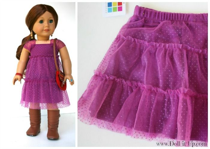 9 Quick and Easy Doll Outfits Made from Girl's Skirts! - Doll It Up