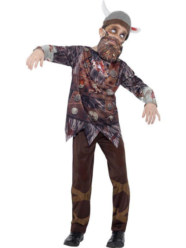 Zombie Wikinger Kostüm für Kinder Halloween inklusive Maske