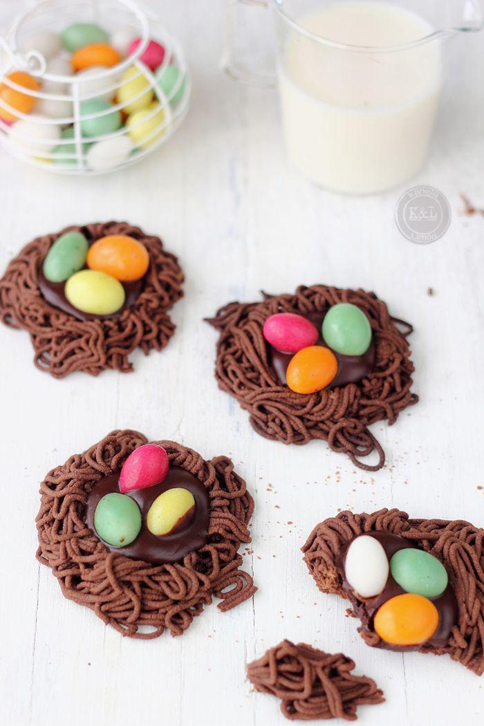 Kanela y Limón: Galletas nido de chocolate / Recetas para pascua