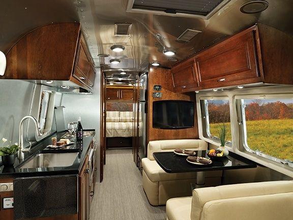 Classic Travel Trailer Decor and Interiors   Airstream