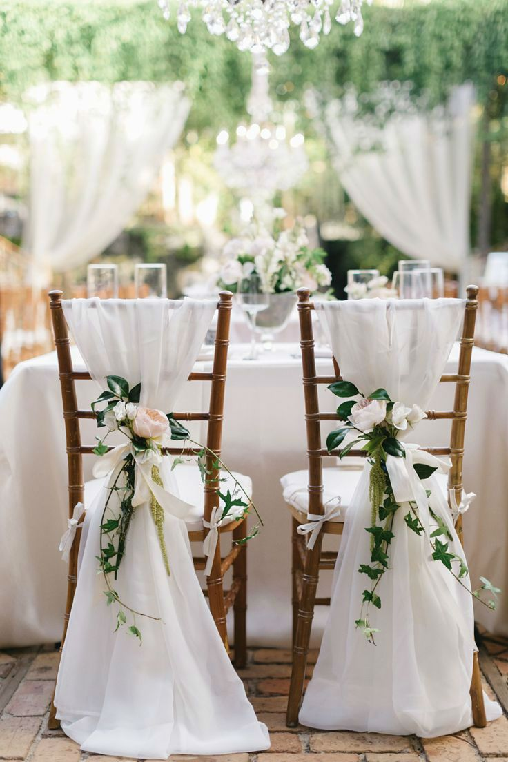 simple yet catchy floral greenery wedding chair decoration ideas