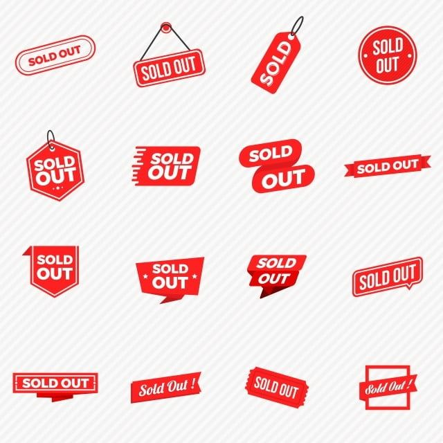 Sale Labels Tag Collection Set Sale Icon Button Png And Vector With Transparent Background For Free Download Labels Sold Out Sign Banner