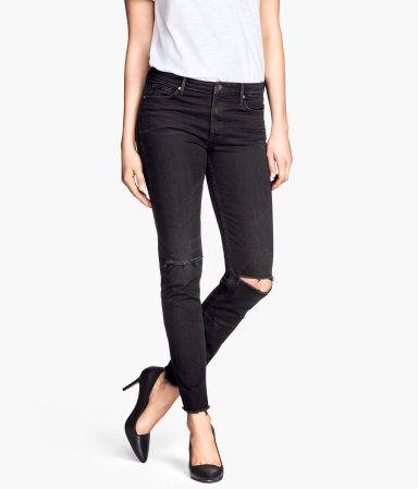 Schwarz verwaschene Jeans <3