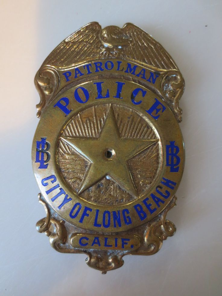 Rare Long Beach Police Badge for sale