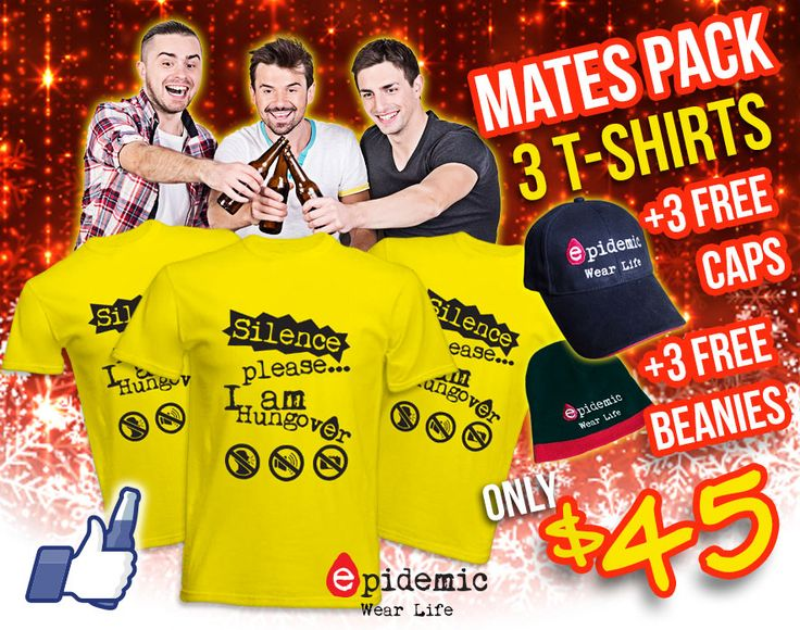 The insane just got INSANER! 3 T-Shirts + 3 Caps + 3 Beanies for your xmas drinking with your mates. Tag them on this picture and get this offer limited to the existing stock. HURRY, GET YOUR MATES AN UNFORGETTABLE SET OF MEMORIES!
