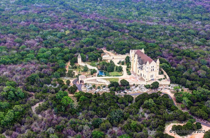 A true Texas Hill Country Castle. ... Falkenstein Castle to be precise... between Burnet & Marble Falls, TX. Most views/pics of it are from the road... eye-level. This photo, from the air is a REAL treat!! :-) --CG (pic taken June 2012, by Jim Wreyford... pilot & photographer extraordinaire!)