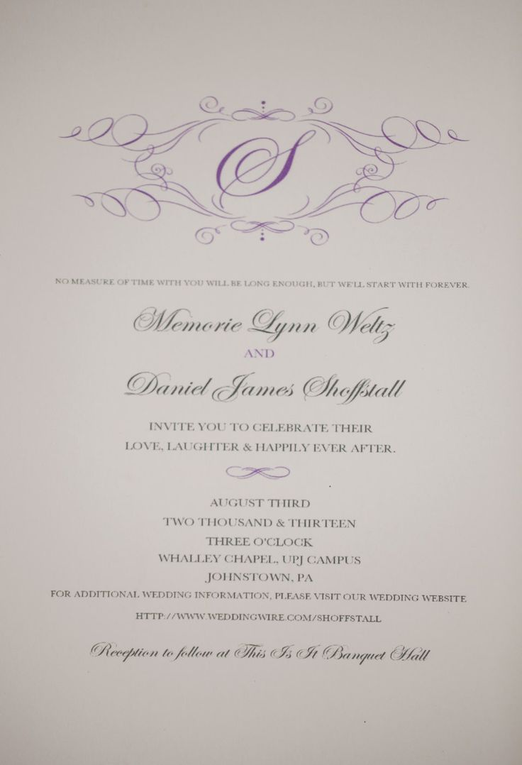 second wedding invitation verbiage%0A Wording for invites minus a few changes