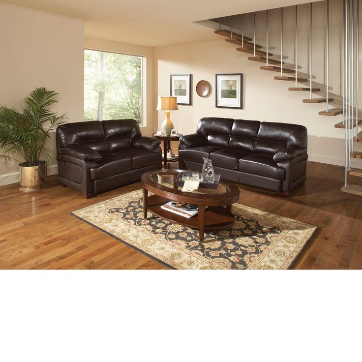The Dump Furniture Daytona Leather Sofa Living Room