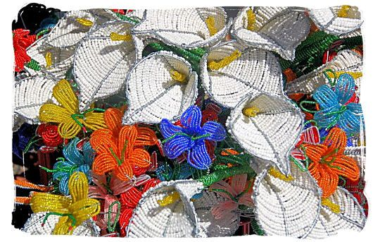 Wire and beads bouquet