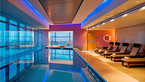 Large, modern pool area at the Westin.