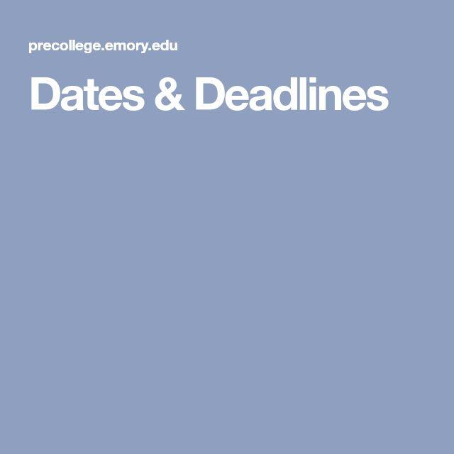 Emory University June 17–June 30, 2018 July 1–July 14, 2018  July 15–July 28, 2018