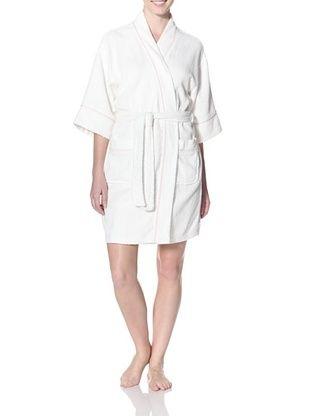 26% OFF Aegean Apparel Women's Terry Kimono Robe (White/Pink)