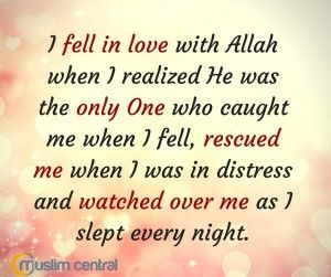 I Fell In Love With Allah - Islamic Image