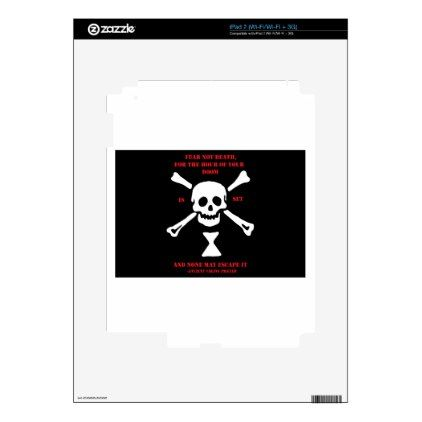Ancient Viking Prayer...Fear Not Death Skin For The iPad 2 - diy cyo personalize design idea new special custom
