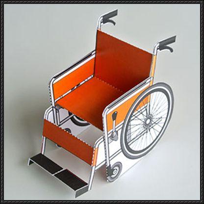 Wheelchair Free Paper Model Download - http://www.papercraftsquare.com/wheelchair-free-paper-model-download.html