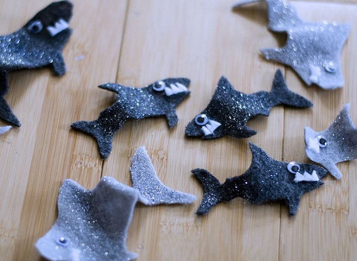 Glitter Sharks for a Sharknado Costume