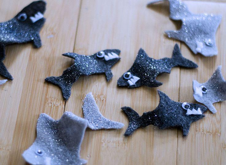 Glitter Sharks for a Sharknado Costume