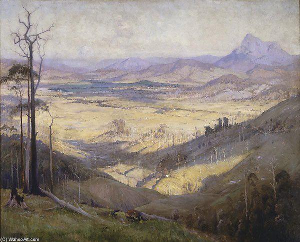 Vallée de la Tweed de Elioth Gruner (1882-1939, New Zealand)