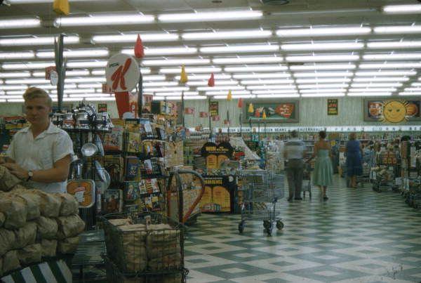 Interior view of a Publix supermarket in Sarasota, Florida, 1958.