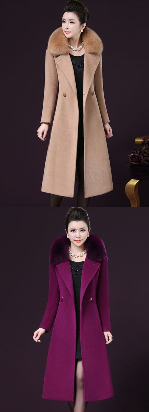Women's Going out Plus Size Sophisticated Winter Fall Coat