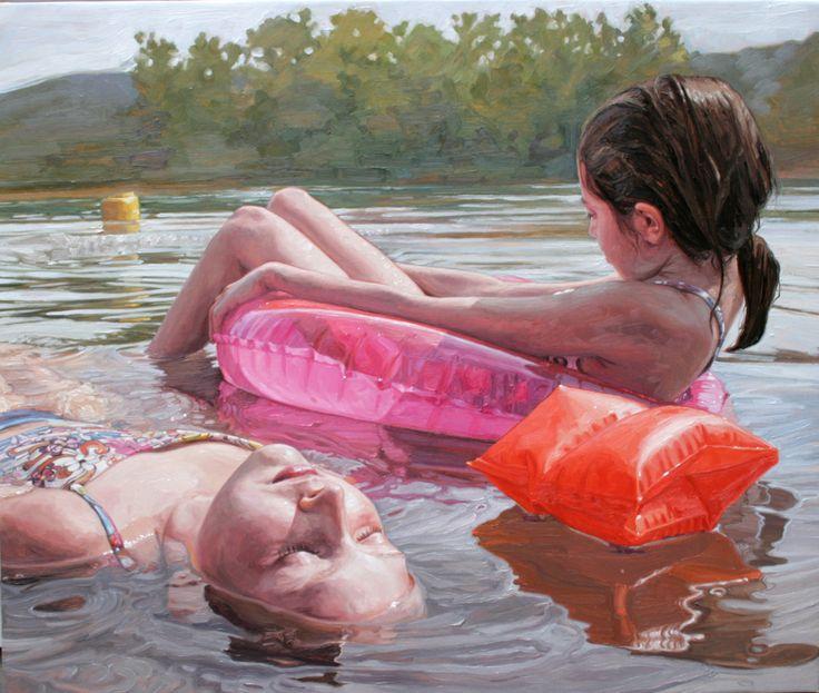 Laura SandersPainting Portraits, Emergency Artists, Figures Art, Sander Painting, Late Summer, Inspiration Artistique, Figures Painting, Laura Sander, Oil Painting