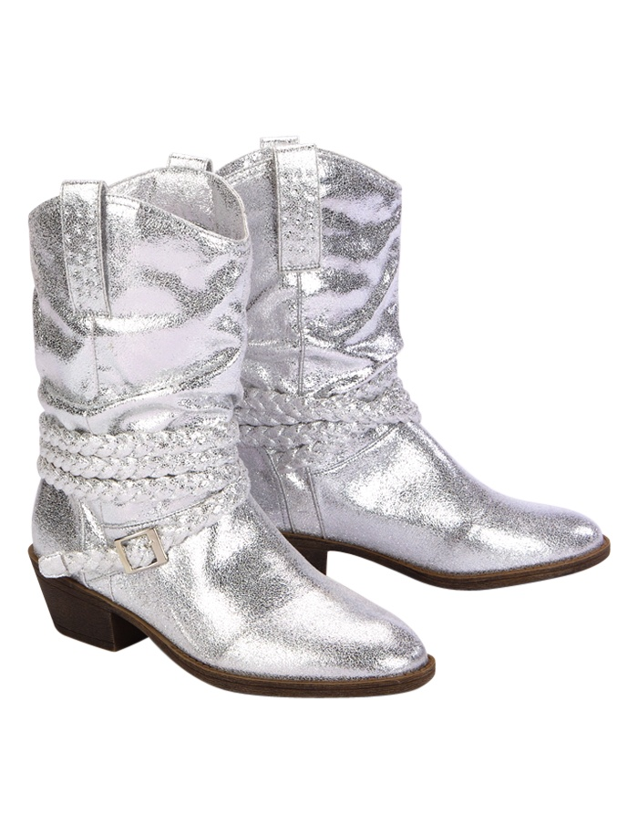 Metallic Braided Cowboy Boots | Boots | Shoes | Shop Justice