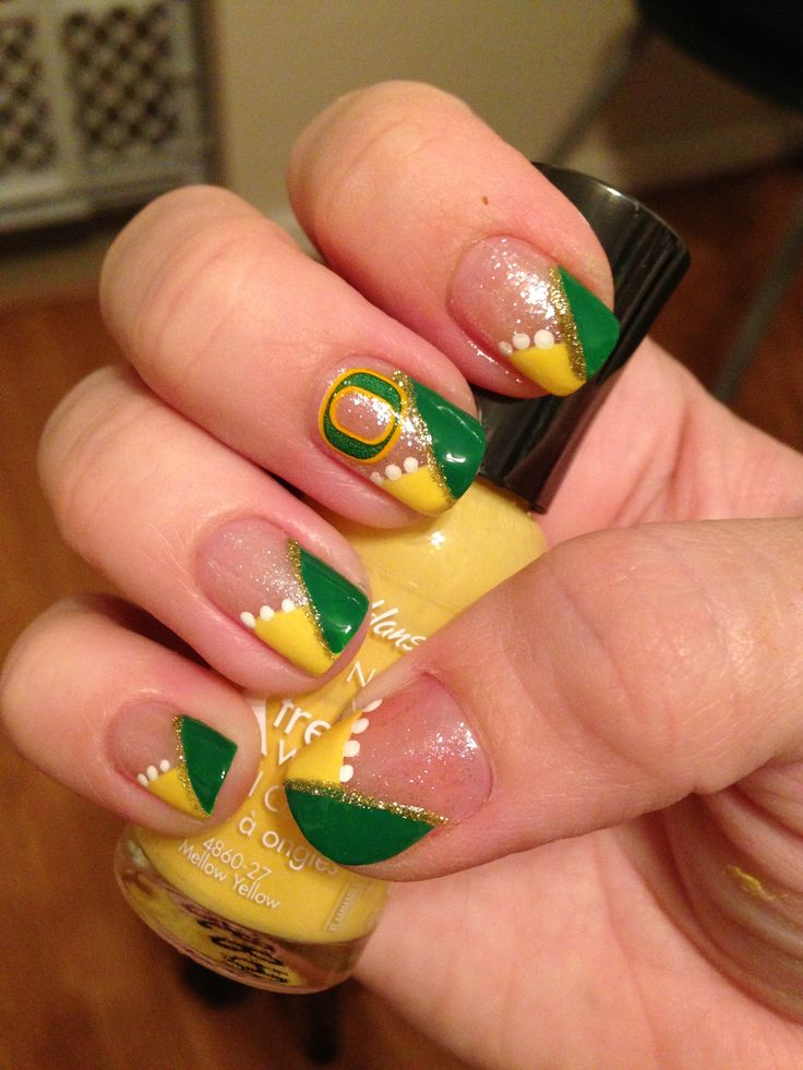 Oregon Duck Nails #green