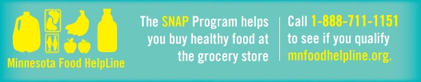 Check out the Minnesota Food HelpLine and see if you are eligible for SNAP benefits!  If you aren't from Minnesota, that's ok, just look for SNAP in your state.