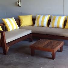 Timber corner seating with coffee table