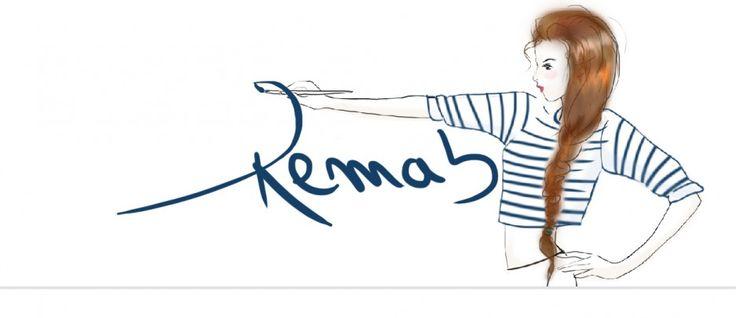 Remab blog bannière drawing long hair french girl