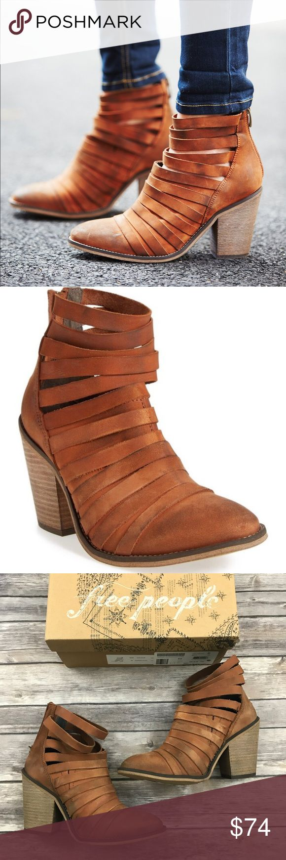 New Free People Hybrid Strappy Leather Booties Free People Hybrid Strappy Leather Booties in Terracotta  •New in box •Size 36 (6) •Retails for $198  Check out my other listings- Nike, adidas, Michael Kors, Hunter Boots, Kate Spade, Miss Me, Rock Revival, Coach, Wildfox, Victoria's Secret, PINK, True Religion, Ugg Australia, Free People and more! Free People Shoes Ankle Boots & Booties