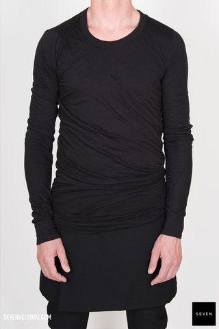 Rick Owens DOUBLE LONG SLEEVES T - black 273 € | Seven Shop