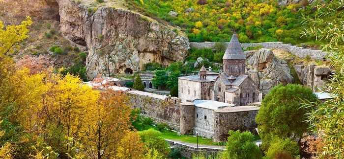 The Geghard Monastery in Armenia