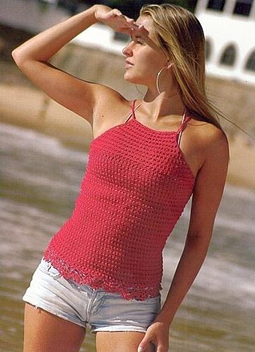 Crochet - Top Vermelho